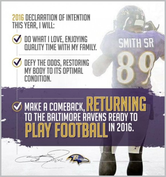 WR Steve Smith Announces He Will Return in 2016