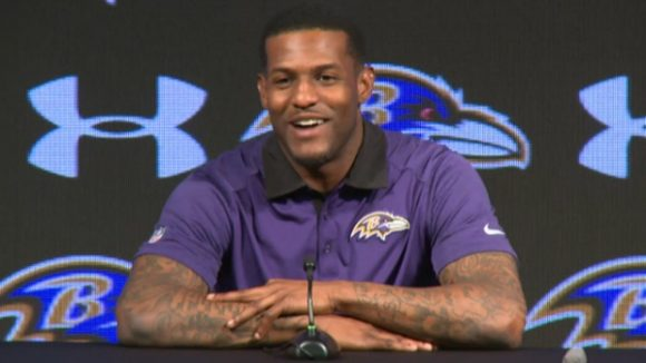 New Ravens WR Mike Wallace Working with First-Team Offense